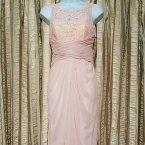 David's Bridal Pink Sleeveless Dress - Size 2